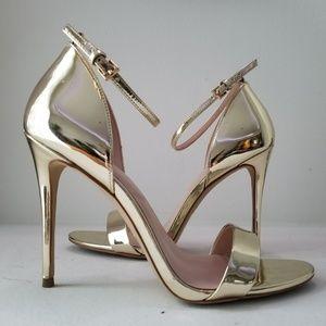 Aldo Metallic Gold Heels